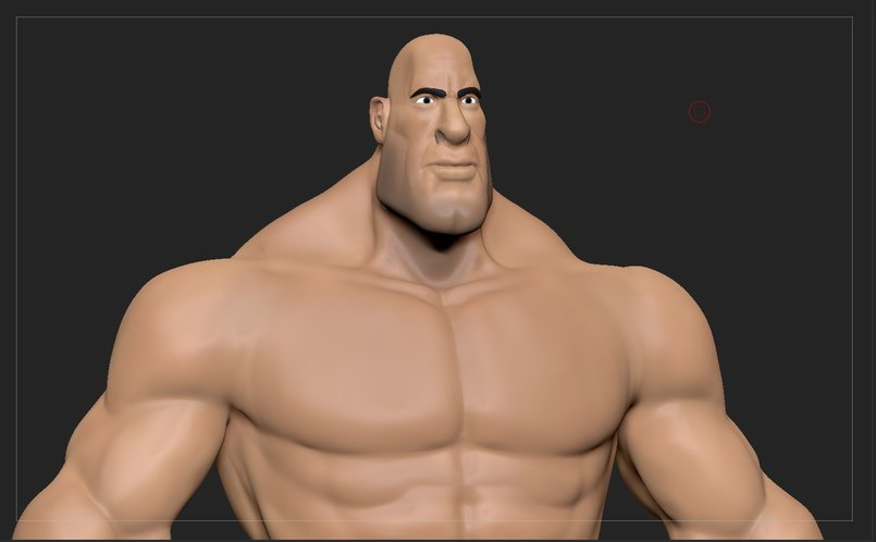Stylized muscular man