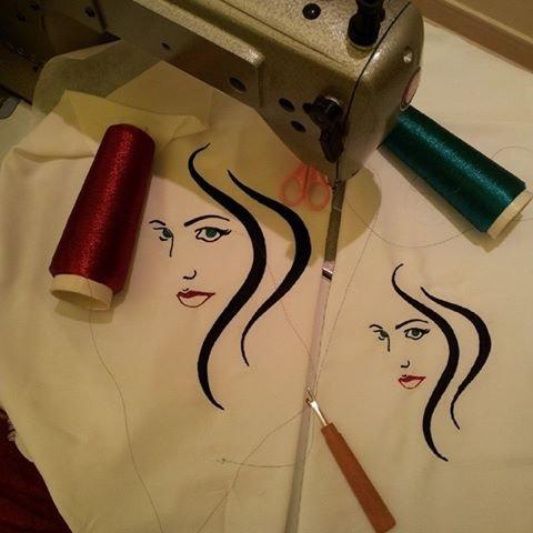1 - رسم تصاميم التطريز