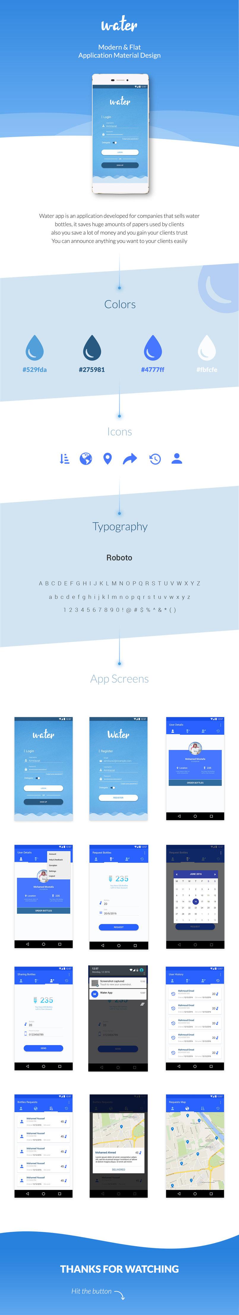 Water App - Mobile App Design