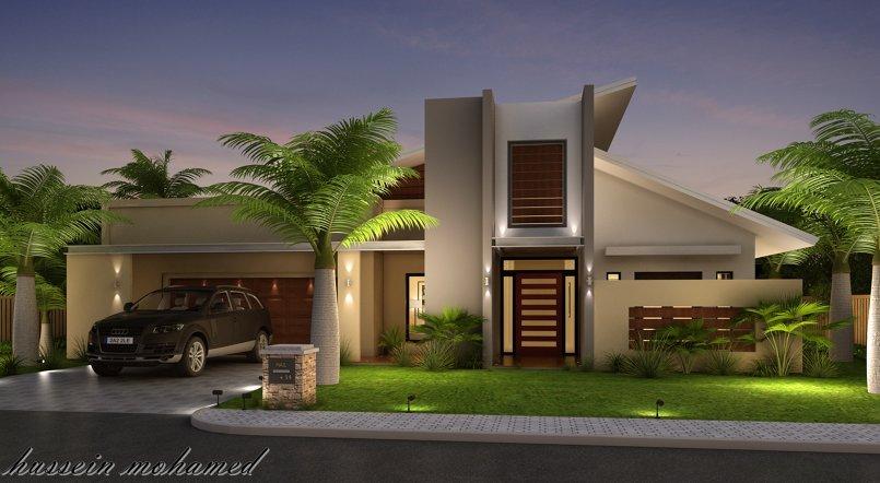 new villa exterior