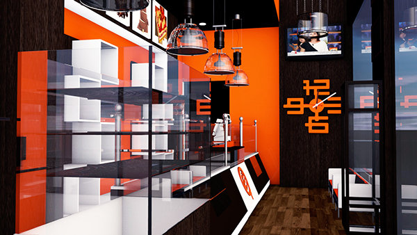 3D Patisserie Shop design