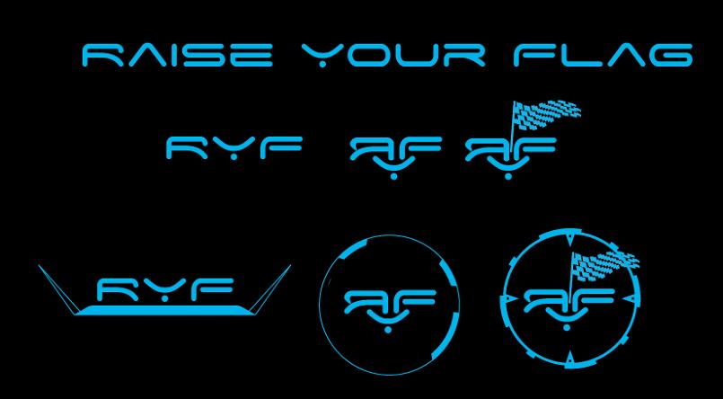 تصميم مجموعة شعارات للعبة 3D