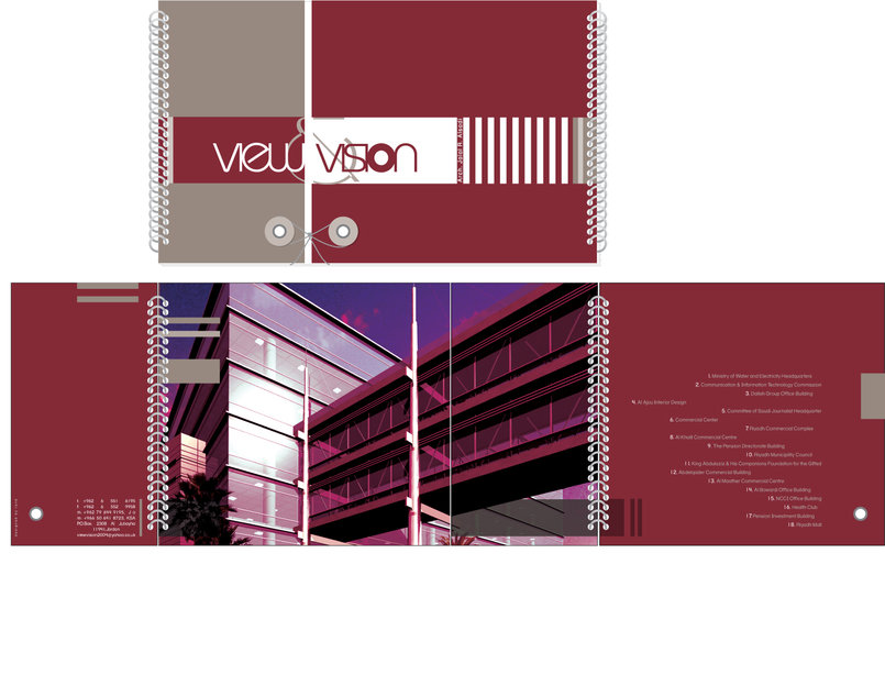 View&Vision portfolio cover and inside cover