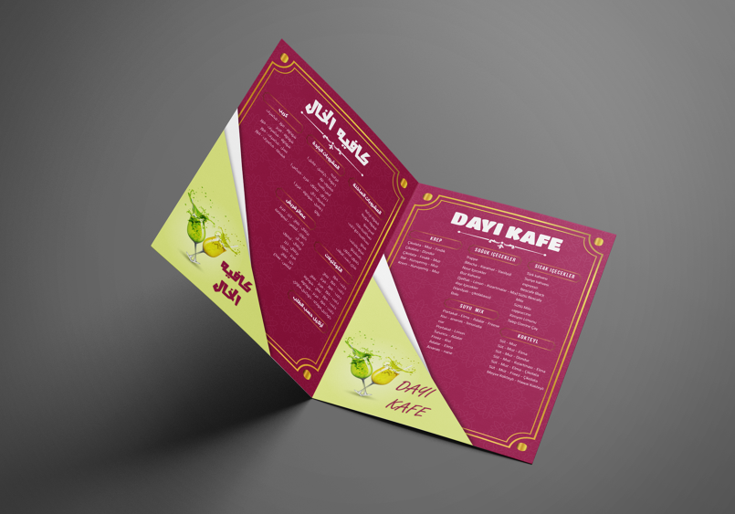 Al Khal Cafe in Turkey (Drinks List + Business Cards)