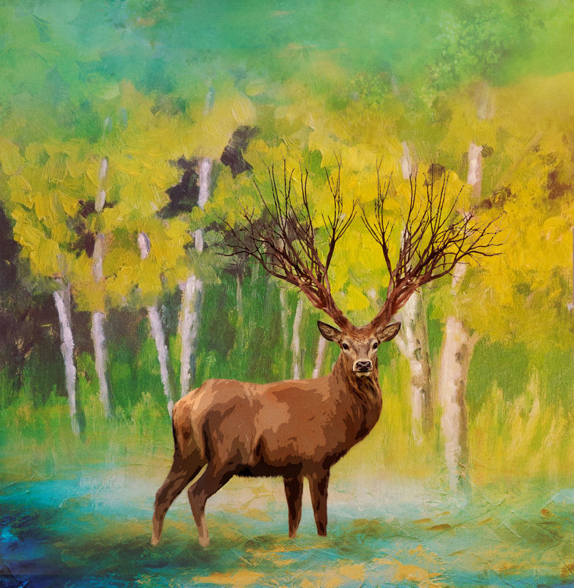 Deer Digital Art