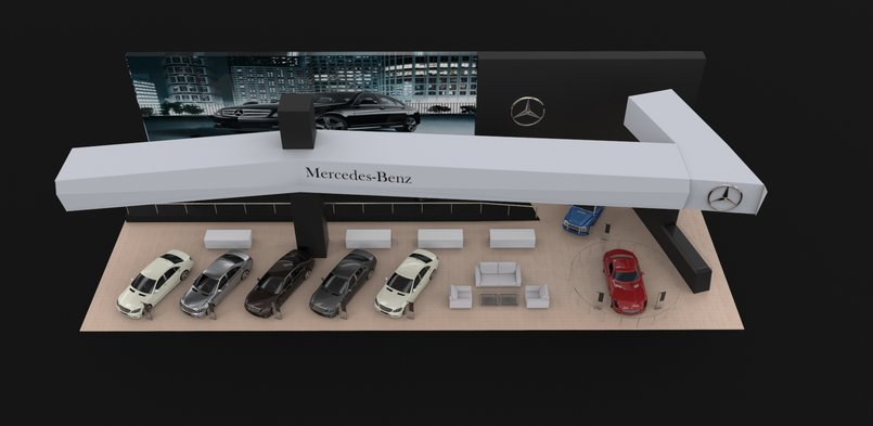 Mercedes booth