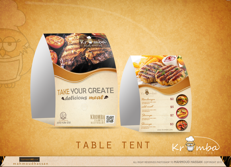Mock up Table tent