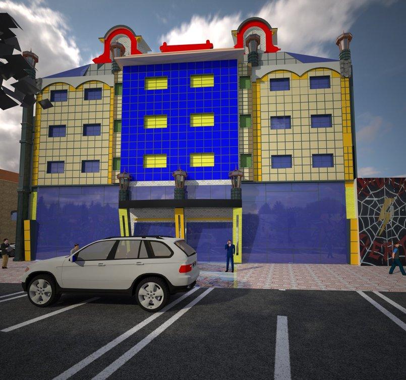 إعادة التحويل مبنى خاص لتجميع القمح الى فندق