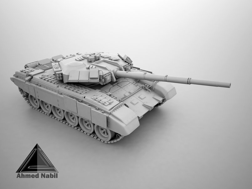 modeling hard surface tank