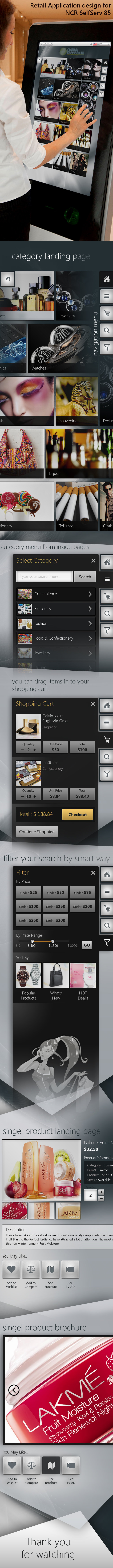 Retail Application design for NCR SelfServ 85