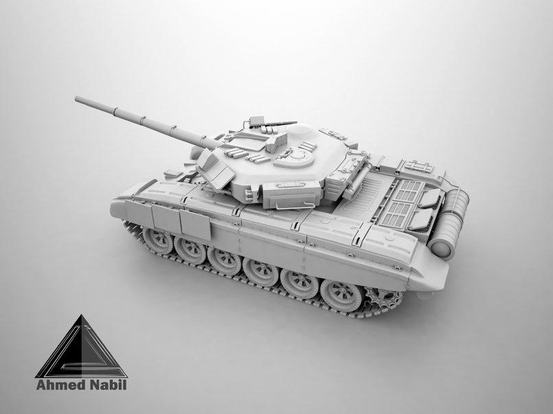 modeling hard surface tank