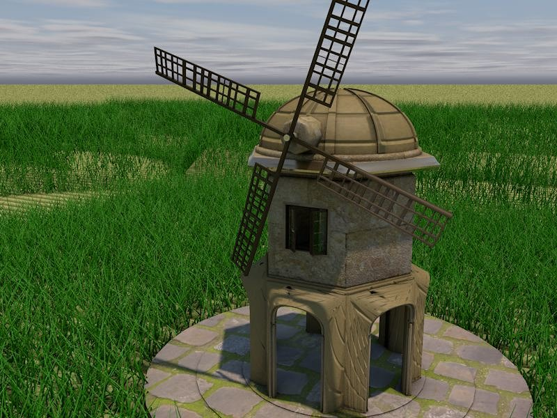 Windmill 3D Model