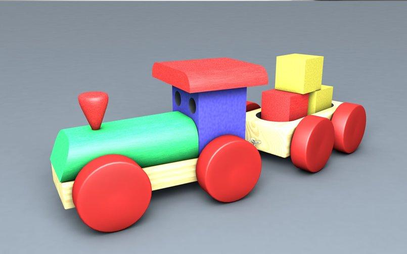 ( Train ( Toy 3D Model