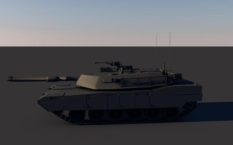 modeling tank in c4d