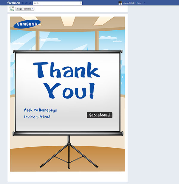 Samsung - Laptop Savior Game Facebook App