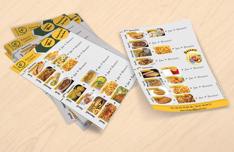 قائمة طعام 1