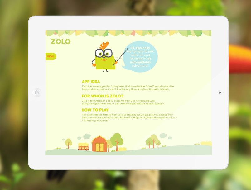 """تطبيق Ipad للأطفال """"Zolo"""""""