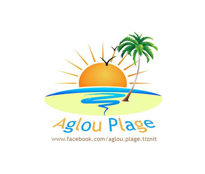 شعار لصفحة فايسبوكية تحت اسم شاطئ أكلو Aglou Plage