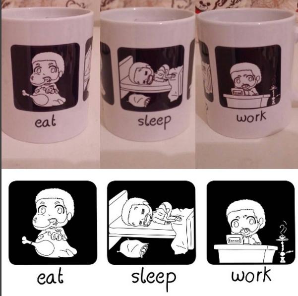 eat - sleep - mug