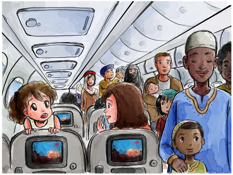 children's book illustration : الكتاب يجمعنا