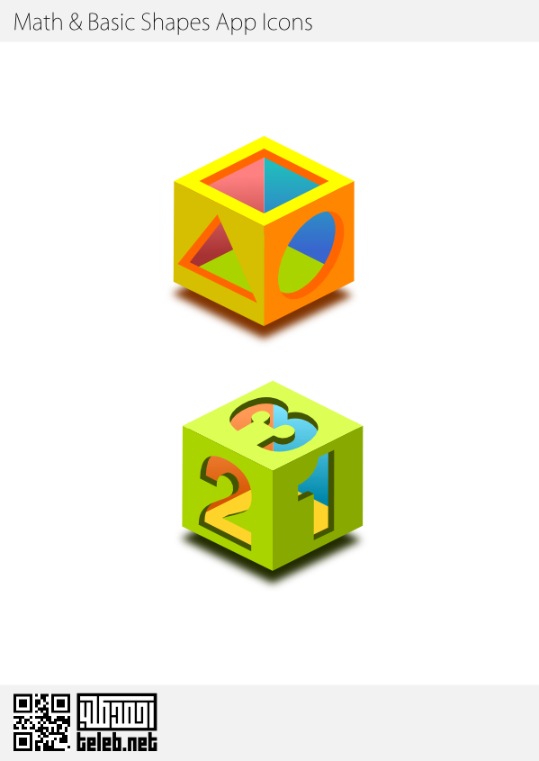 Icons for game Application for Android for math and basic shapes