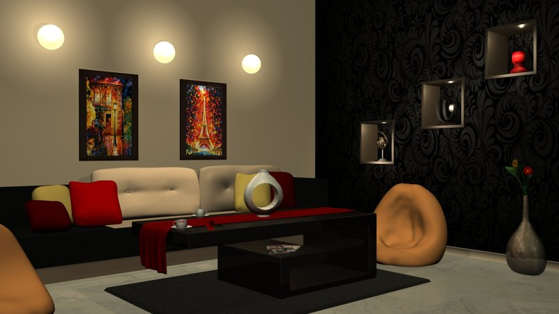 interior design.. using Maya (mental ray)  perspective 1