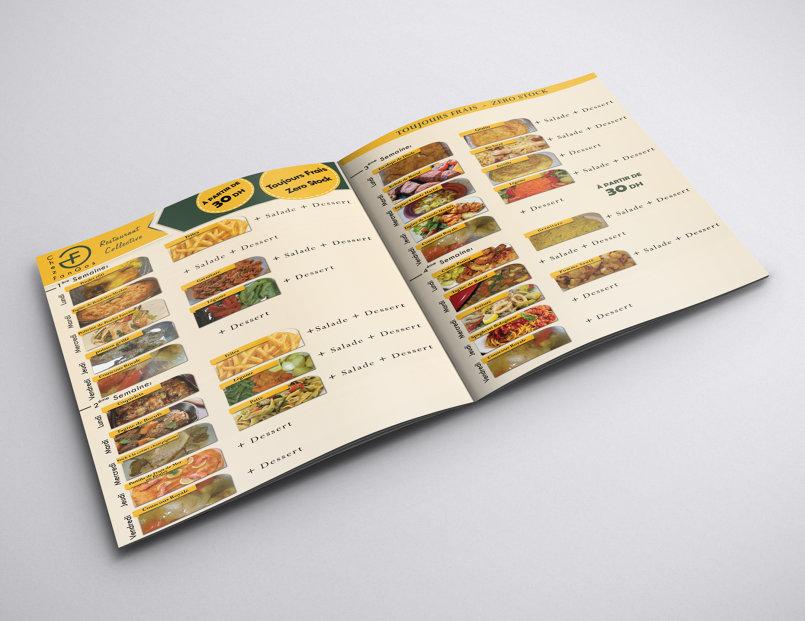 الواجهة الخارجية لقائمة طعام الاطفال
