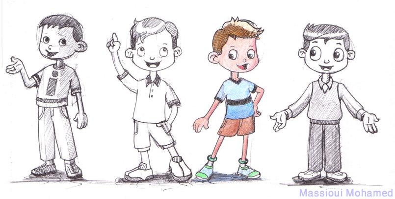 تصميم مبتكر لشخصيات أطفال 1