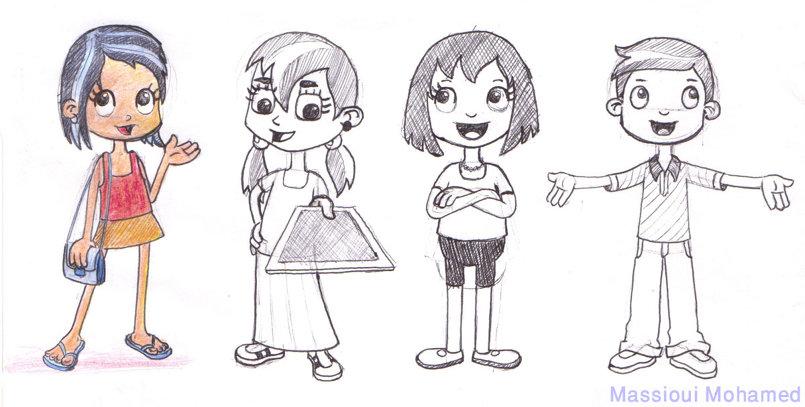 تصميم مبتكر لشخصيات أطفال  2