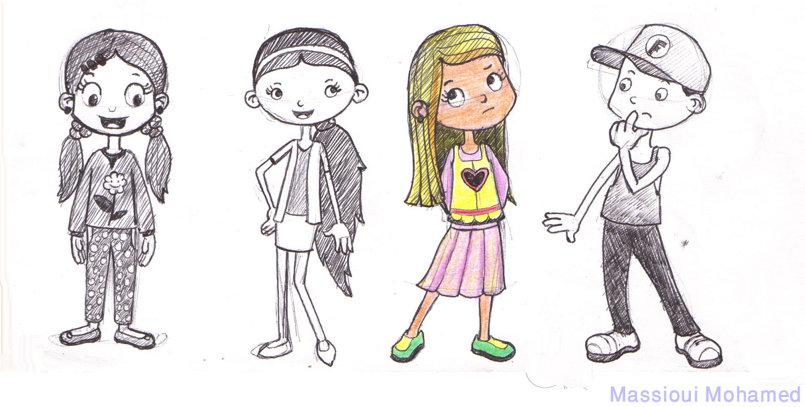 تصميم مبتكر لشخصيات أطفال  3