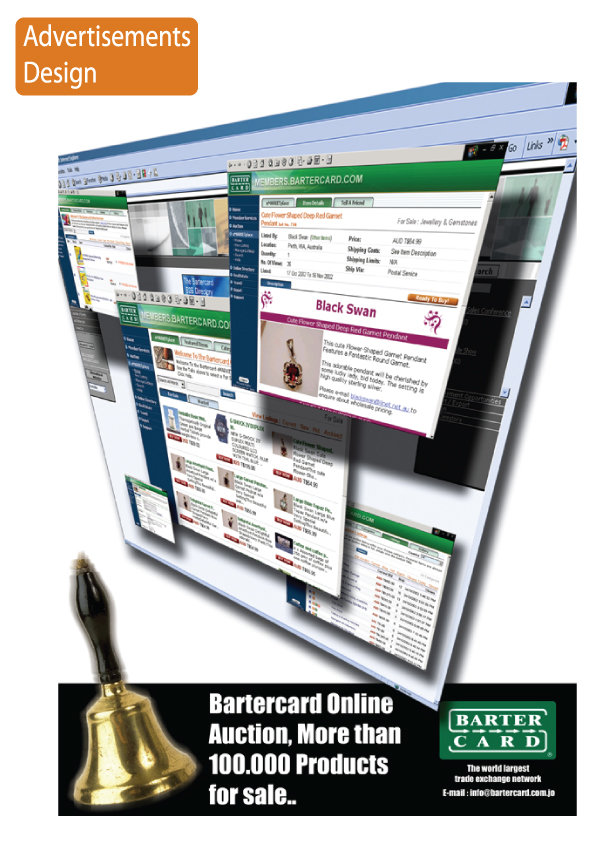 BarterCard Online Auction AD
