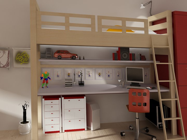 this is an interior design for a kid room i used 3ds max and v-ray