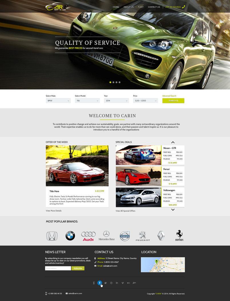 Car In Website