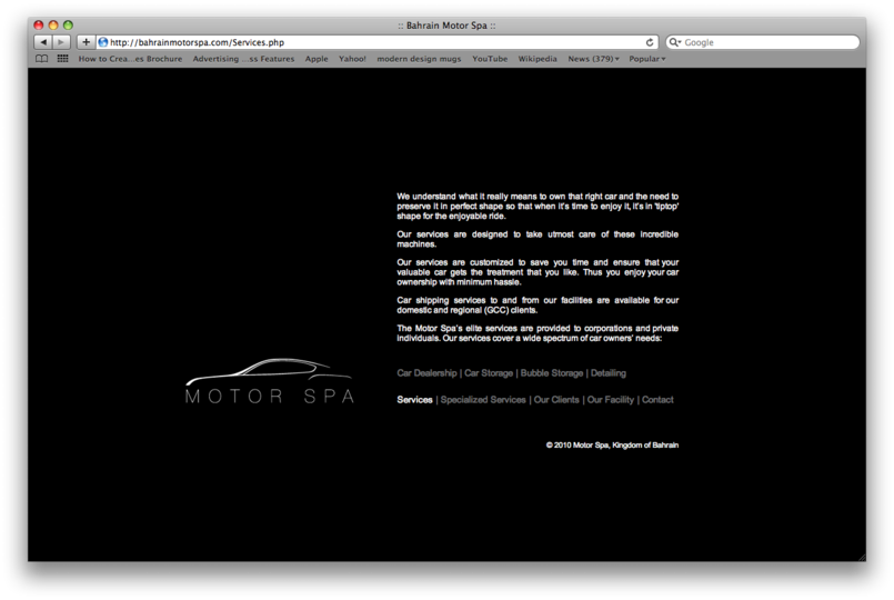 Motor Spa Website