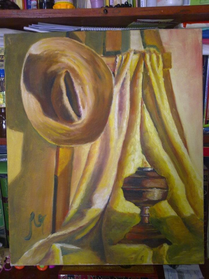 طبيعة صامتة - ألوان زيتية على قماش - الحجم 50×70.