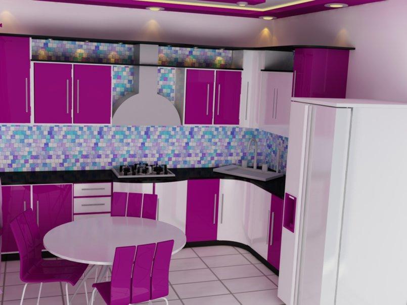 مطبخ بيسط اول عمل تصميم لي ...