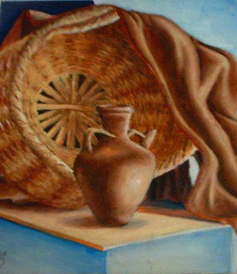 طبيعة صامتة - ألوان زيتية على قماش - الحجم 40×60.