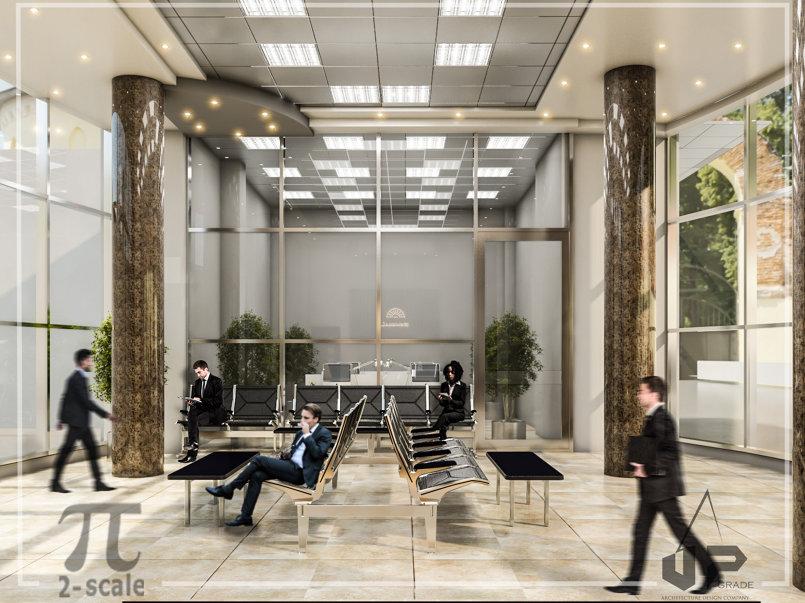 تصميم خارجي وداخلي لمركز صيانة سيارات