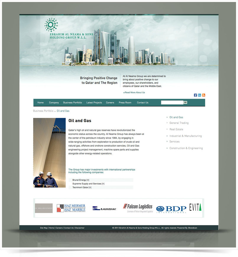 Al Neama Holding Group Website - Qatar