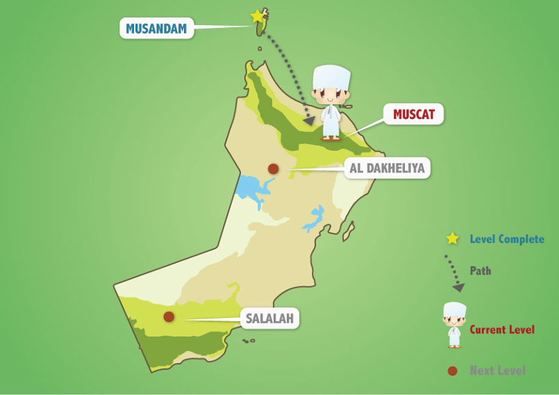 The Map of Oman