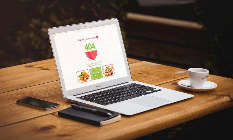 Error Page 404 - Food Websites
