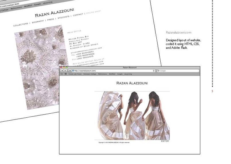 www.razanalazzouni.com  - fashion designer's website