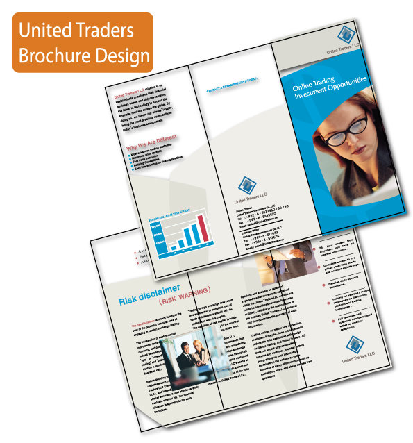 United financial brochure design