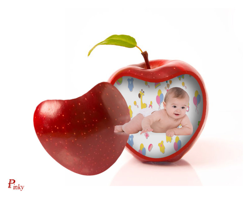 Baby In Apple
