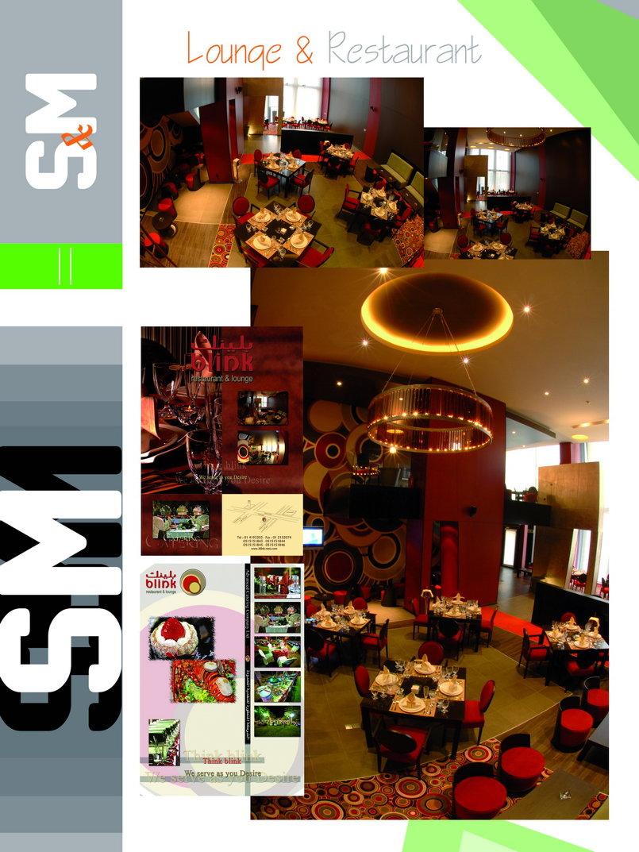 مطعم بلينك تصميمي الداخلي والخارجي وصممت الشعار والمنيووهات وكل ما يتعلق بالمطعم بالمملكة