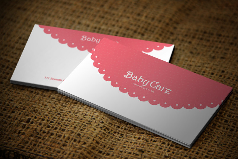baby care Business Cards Design #1