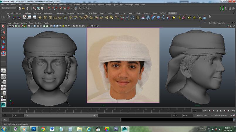 تحويل من شخصية حقيقية الى  ثلاثية الابعاد