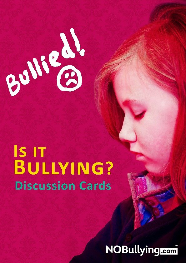Bullying Discussion Cards Cover
