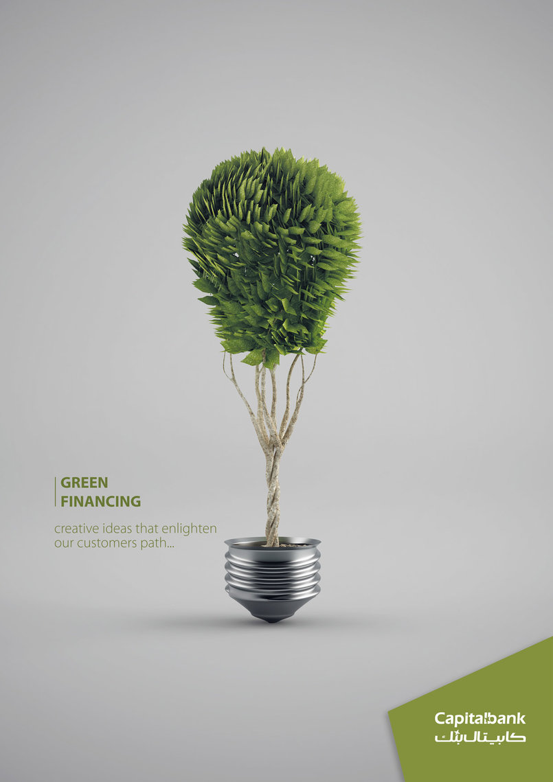 3d Conceptual Ad done for Capital Bank/Jordan 2012