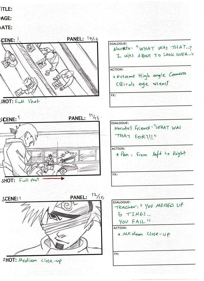 Naruto - Storyboard